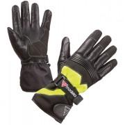 Modeka Freeze Evo Guantes de la motocicleta Negro Amarillo S M