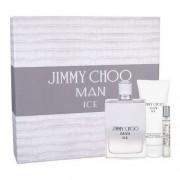 Jimmy Choo Man Ice 100ml Apă De Toaletă + 100ml After Shave Balsam + 7,5ml Apă De Toaletă Set