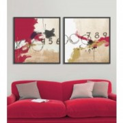 Tablou 2 piese Canvas Abstract Numbers