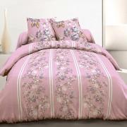 Parure housse de couette 220x240 cm 100% coton roses