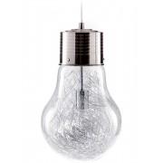 Lampadario Sospensione Bulb in Metallo e Vetro