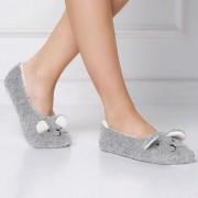 Meleg balerina papucs, macival szürke