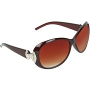Zyaden Brown Round sunglasses for women 421