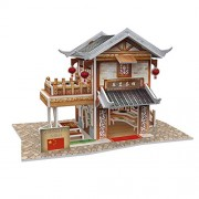W3130h Cubicfun Cubic Fun 3d Puzzle Model China Flavor Leming Teahouse 6.5""
