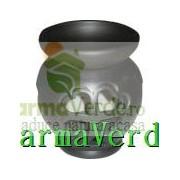 Lampa Candela Trifoi Negru Ceramica Vitos