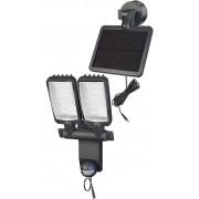 Brennenstuhl Lampa solarna woltaiczna słoneczna led niemiecka 480lm LED DUO Premium SOL LV1205 P2 IP44 z czujnikiem ruchu na promieniowanie podczerwone 12xLED 0,5W