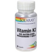 Solaray Vitamin K2 (Menaquinone-7) MK-7 - 30 veg. Kapseln