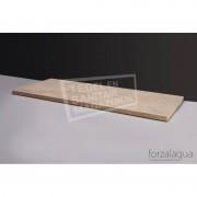 Forzalaqua Plateau Wastafelblad Rechthoek Travertin Gezoet 80,5x51,5x3 cm 1 afvoergat (72mm)