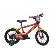 Bicicleta pentru copii CARS, 16 inch, maxim 60 kg, 5 ani+
