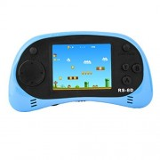 Zhishan Handheld Game Console For Children Built In 260 Classic Old Video Games Retro Arcade Gaming Player Portable Playstation Boy Birthday Or Christmas (Light Blue)