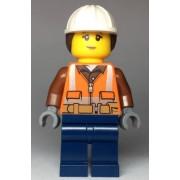 cty0969 Minifigurina LEGO City-Muncitoare constructii cty0969
