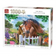 King Puzzle 1000 piese Horses at the gate