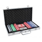 Set Joc de Poker 300 de Jetoane, Valiza Metalica si Accesorii Joc