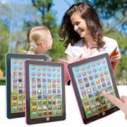 EY Tablet Pad Ordenador Para Los Niños Del Cabrito Aprendizaje Inglés Educación Enseñar Juguete Azul