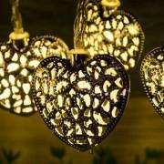 Arany szív LED égősor