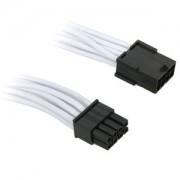 Cablu prelungitor BitFenix Alchemy 8-pini PCIe, 45cm, white/black, BFA-MSC-8PEG45WK-RP