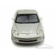 2005 Chevrolet Corvette C6 1:18 Diecast Coupe Silver by Maisto