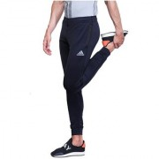 Adidas Navy Polyester Lycra Track Pant