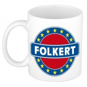 Bellatio Decorations Namen koffiemok / theebeker Folkert 300 ml
