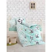 Set lenjerie de pat pentru copii Cotton Box, 129CTN3003, Albastru