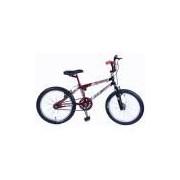Bicicleta Masculina Aro 20 Mutante, Preto e Vermelho