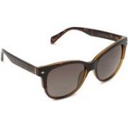 Fossil Rectangular Sunglasses(Brown)