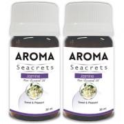 Aroma Seacrets Jasmine Pure Aromatherapy Essential Oil Rejuvenate Skin (30ml) - Pack of 2