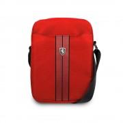 Ferrari Urban Tablet Bag - дизайнерска чанта с презрамка таблети до 10 инча (червен)