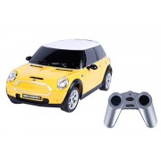 Toyhouse Officially Licensed Rastar Mini Cooper S 1:24 Scale Model Car, Yellow