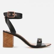 Ted Baker Women's Biah Leather Block Heeled Sandals - Black - UK 6 - Black
