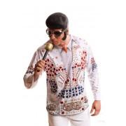 Viving Camiseta disfraz de estrella del rock and roll para adulto - Talla M