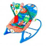 Cadeira de Balanço Bebê Floresta Rosa/Azul - Pura Diversão - Azul