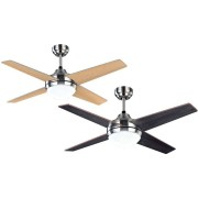 LBA Home Elysa, Ceiling Fan 112 Cm Chrome Reversible Blades Venge/ Gray, With Led Lamp And Remote Control