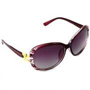 HRINKAR Men's Pink Mirrored Rectangular Sunglasses