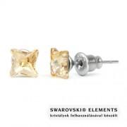 Jazzy arany színű Swarovski® kristályos fülbevaló - Twister Golden Shadow