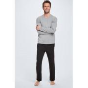 Strellson Pyjama avec t-shirt à manches longues et pantalon, gris clair/noir taille: XXL