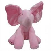 KingWo Elephant Baby Soft Plush Toy Singing Stuffed Animated Animal Kid Doll Gift (Pink)