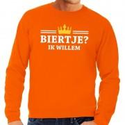 Bellatio Decorations Oranje Biertje ik willem sweater heren