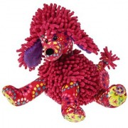 Mary Meyer Print Pizzazz Raspberry Poodle 10 Plush