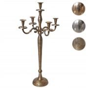 Kerzenleuchter HWC-D81, Kerzenständer Leuchter Kerzenhalter, 5-armig aus Aluminium 80cm massiv 2,2kg ~ Variantenangebot