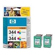 HP 344 2-pack Tri-color Inkjet Print Cartridges (C9505EE)