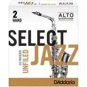 D'Addario Select Jazz Unfiled Alto Sax 2H Cañas