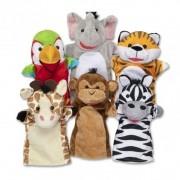 Set 6 papusi de mana Animale Safari Melissa Doug
