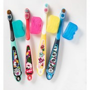 Jordan Step 6-9 years Toothbrush Soft Bristles Latest Design BPA Free Imported Brush gentle to Teeth Gems. Made in Malaysia ( Random Color ) ( Pack Of 4 )