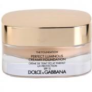 Dolce & Gabbana The Foundation Perfect Luminous Creamy Foundation maquillaje efecto piel seda para iluminar la piel tono No.75 Bisque SPF 15 30 ml