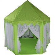Princess/Prince Castle Play Tent Fairy Princess Castle Tent Extra Large Room 55.5''53'' GREEN
