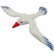 Geen Witte opblaas vogel meeuw 76 cm