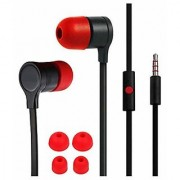 New 3.5mm in Ear Wired Premium Quality Earphone for All HTC Models - Black Red Color