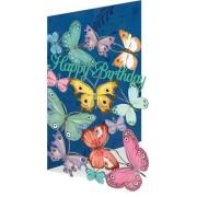 laser gesneden verjaardagskaart roger la borde - happy birthday - vlinders