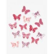 VERTBAUDET 14er-Set Deko-Schmetterlinge mehrfarbig